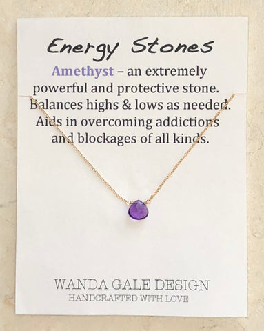 Energy stone necklace - Amethyst