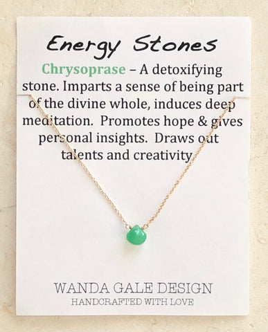 Energy stone necklace - Chrysoprase