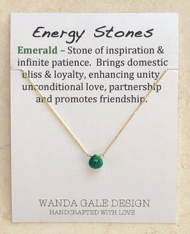 Energy stone necklace - Emerald