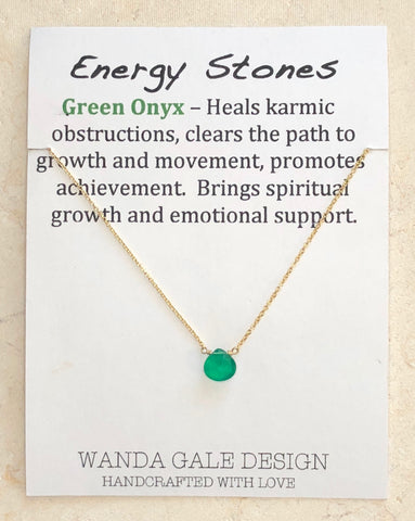 Energy stone necklace - Green Onyx