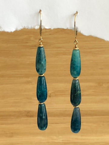 Apatite stack earrings
