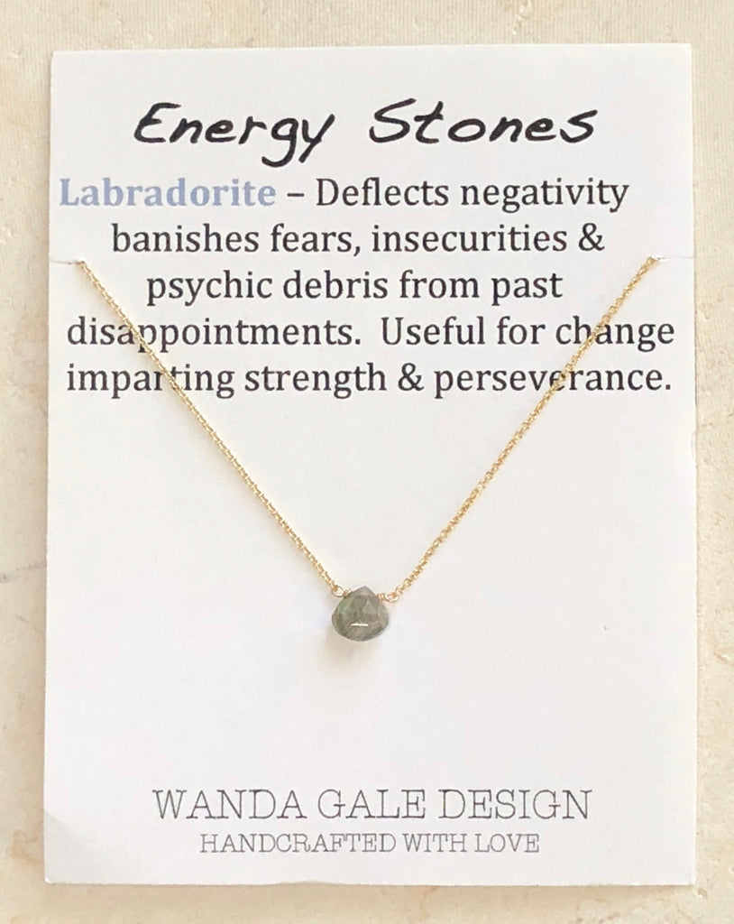 Energy stone necklace - Labradorite