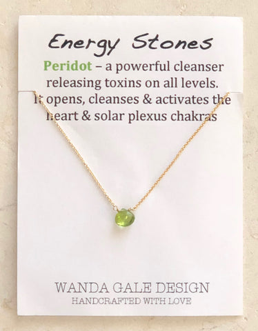 Energy stone necklace - Peridot