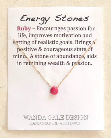 Energy stone necklace - Ruby