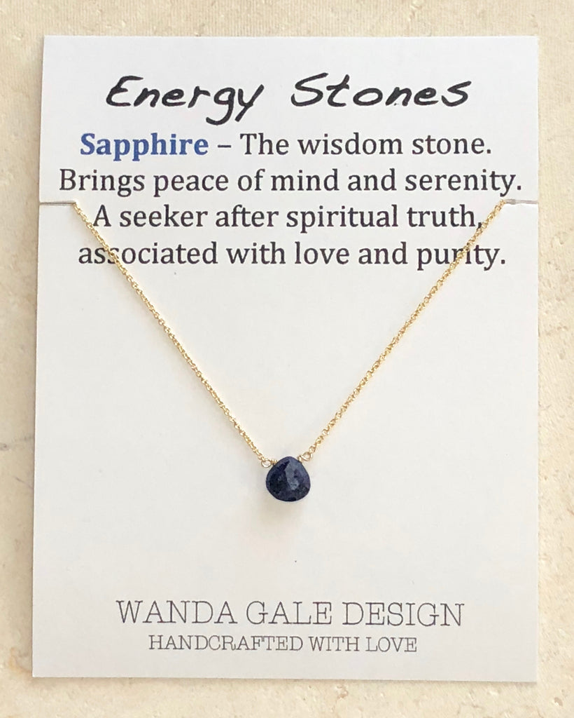 Energy stone necklace - Sapphire
