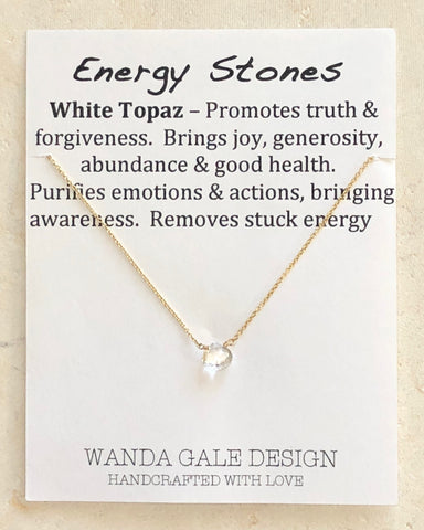 Energy stone necklace - White Topaz