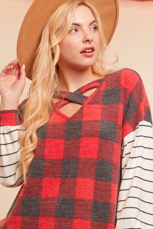 Not Your Average Plaid Top