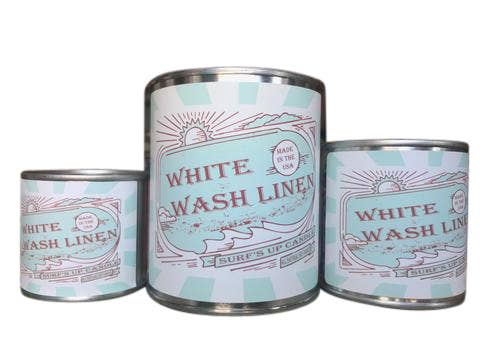 White Wash Linen Paint Can Candle