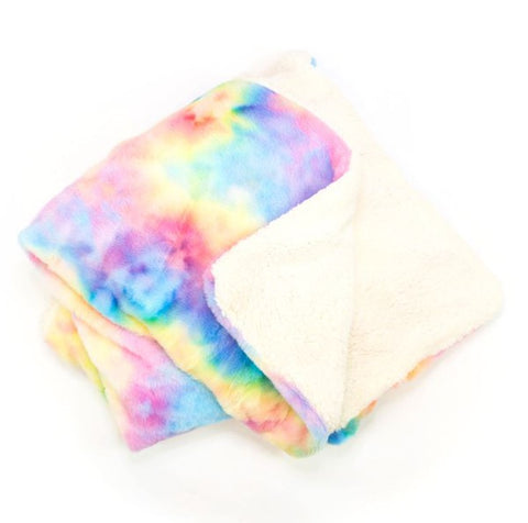 Sherpa Fleece Tie Dye Blanket