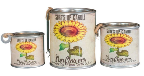 Sunflowers Paint Can Candle