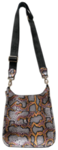 Python Print Genuine Leather Mini Messenger Bag