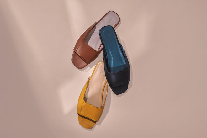 Wilder shoes - women's slide sandals in leather and suede from Wildershop.com