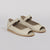 Wilder shoes - off-white leather open-toe mary jane women's sandal - Bettison - three-quarter view