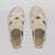 Wilder shoes - white leather women's x-strap flat sandal - hazel - top view