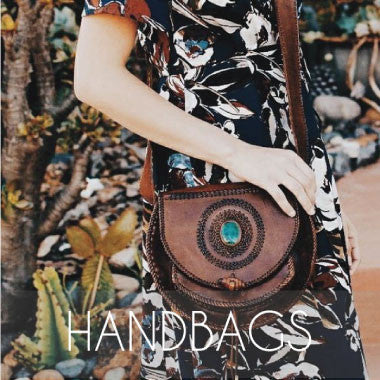 Bohemian leather bags handmade in Ecuador for Salt and Sol
