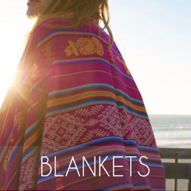 Handmade Ecuadorian Blankets exclusively by Salt and Sol