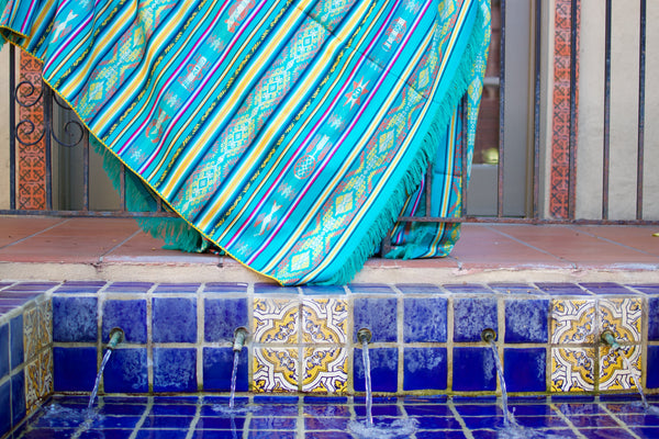 Galapagos Blanket by Salt and Sol. Fair Trade one of a kind handwoven beach blankets.