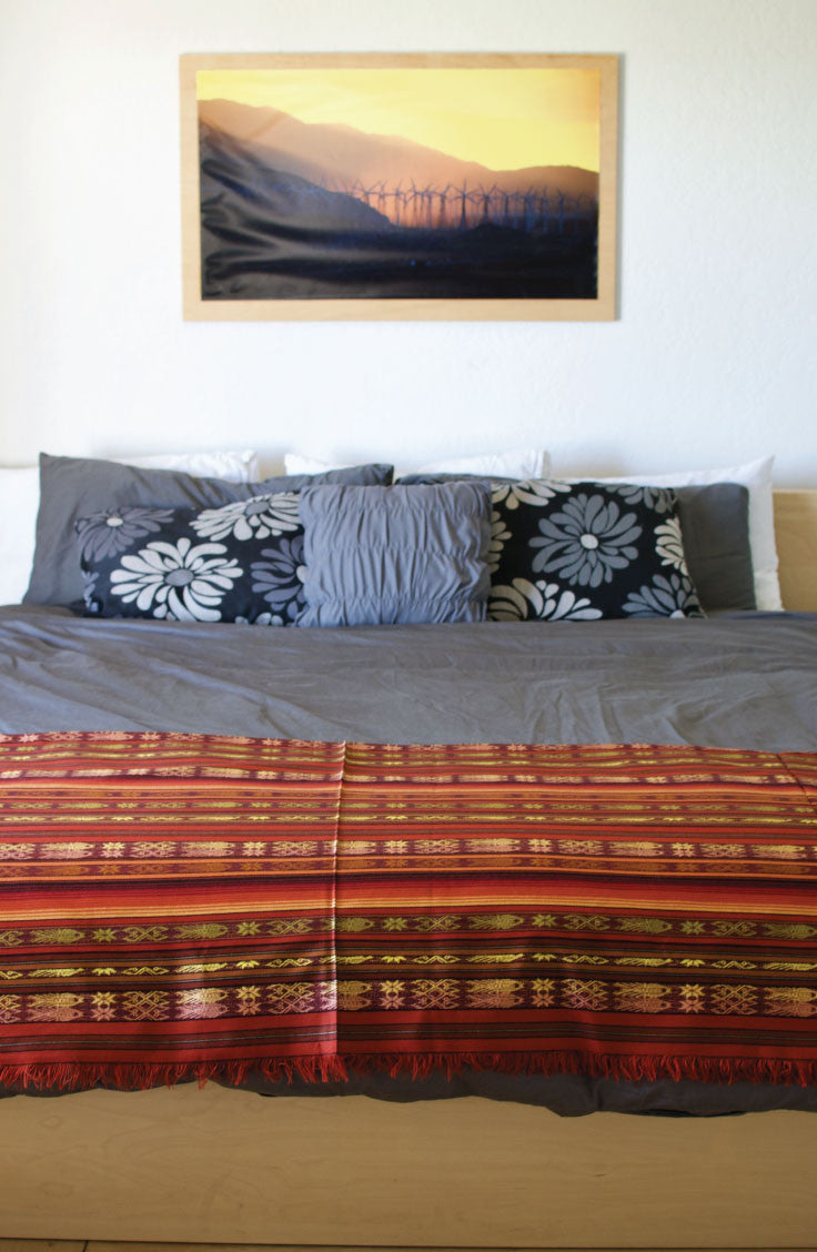 Modern Boho Bungalow: How to style the pachamama collection of handwoven blankets. Home decor for your desert retreat.