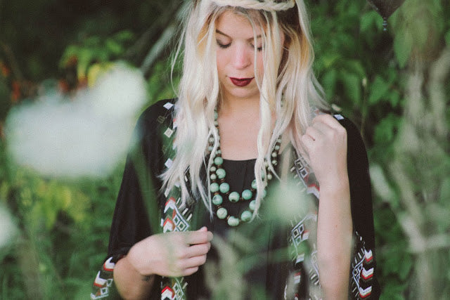 Baylee Reed from the Style Cove wearing the Mint Julep Necklace from the Artisan Collection