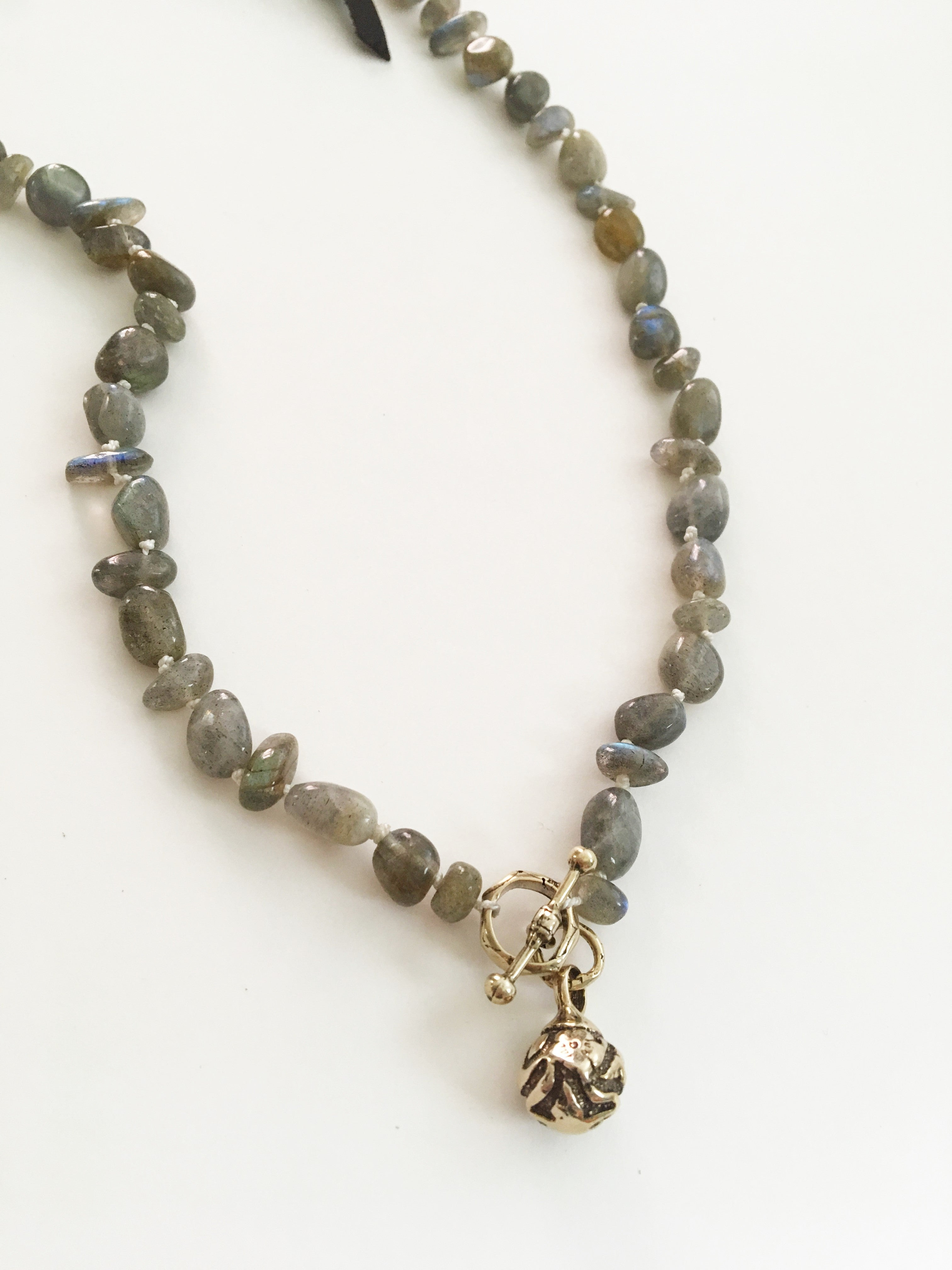 Hand Knotted Labradorite Enlightenment Necklace