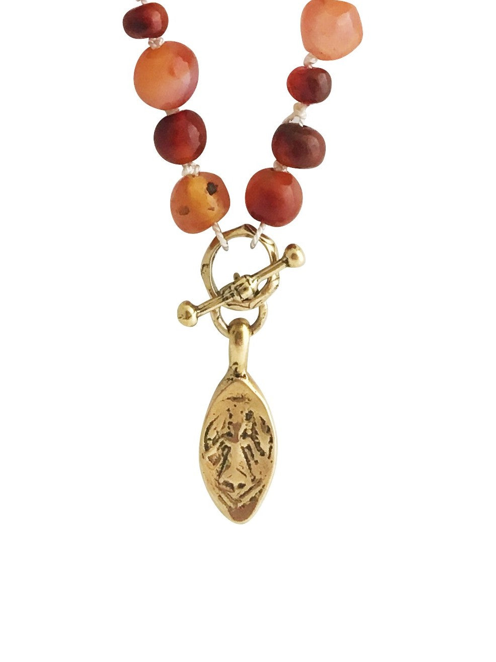 Hand Knotted Carnelian New Beginnings Necklace