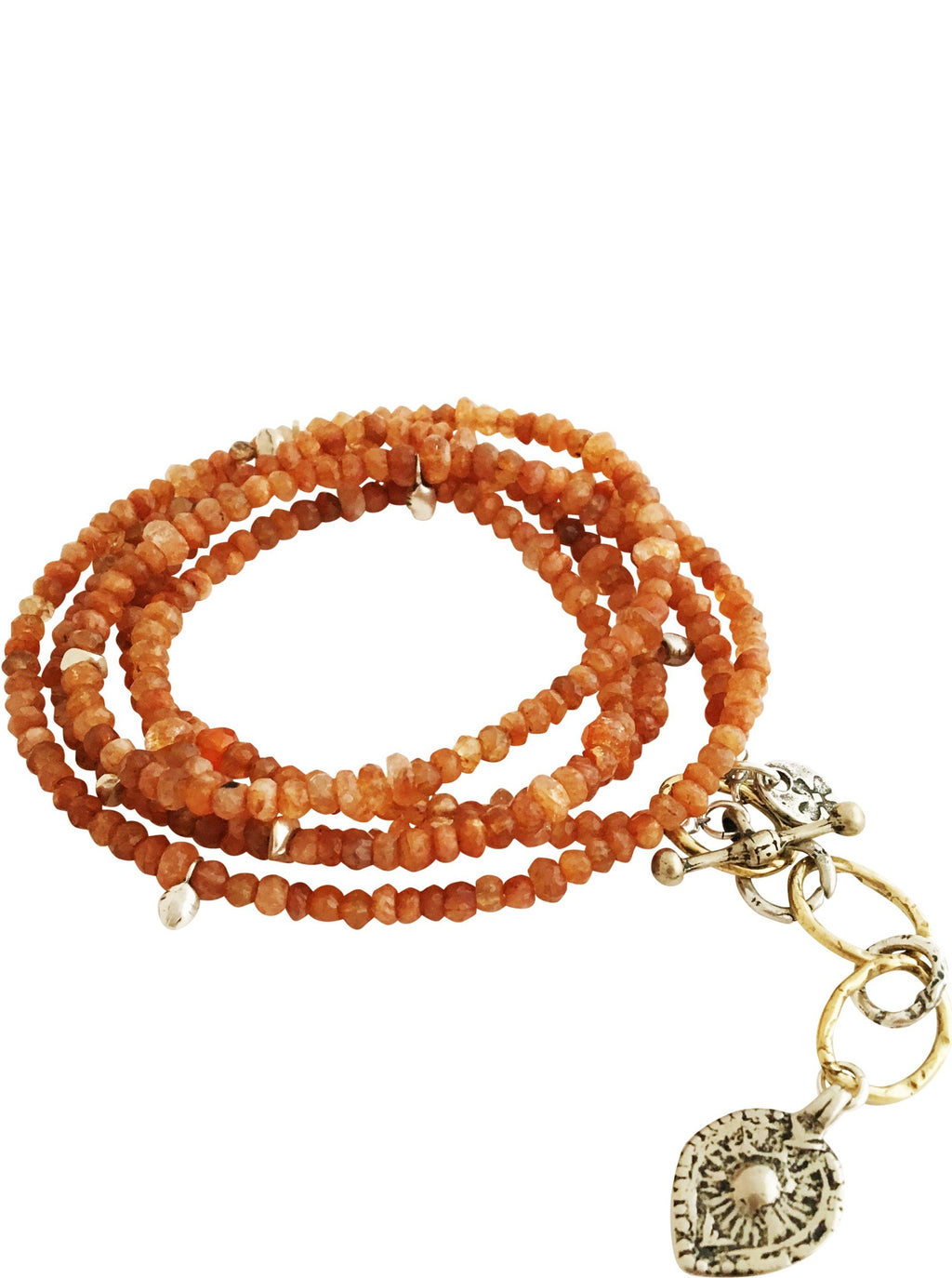 Sunstone Fire Element Wrap Bracelet & Necklace