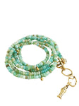 Peruvian Opal Water Element Wrap Bracelet & Necklace