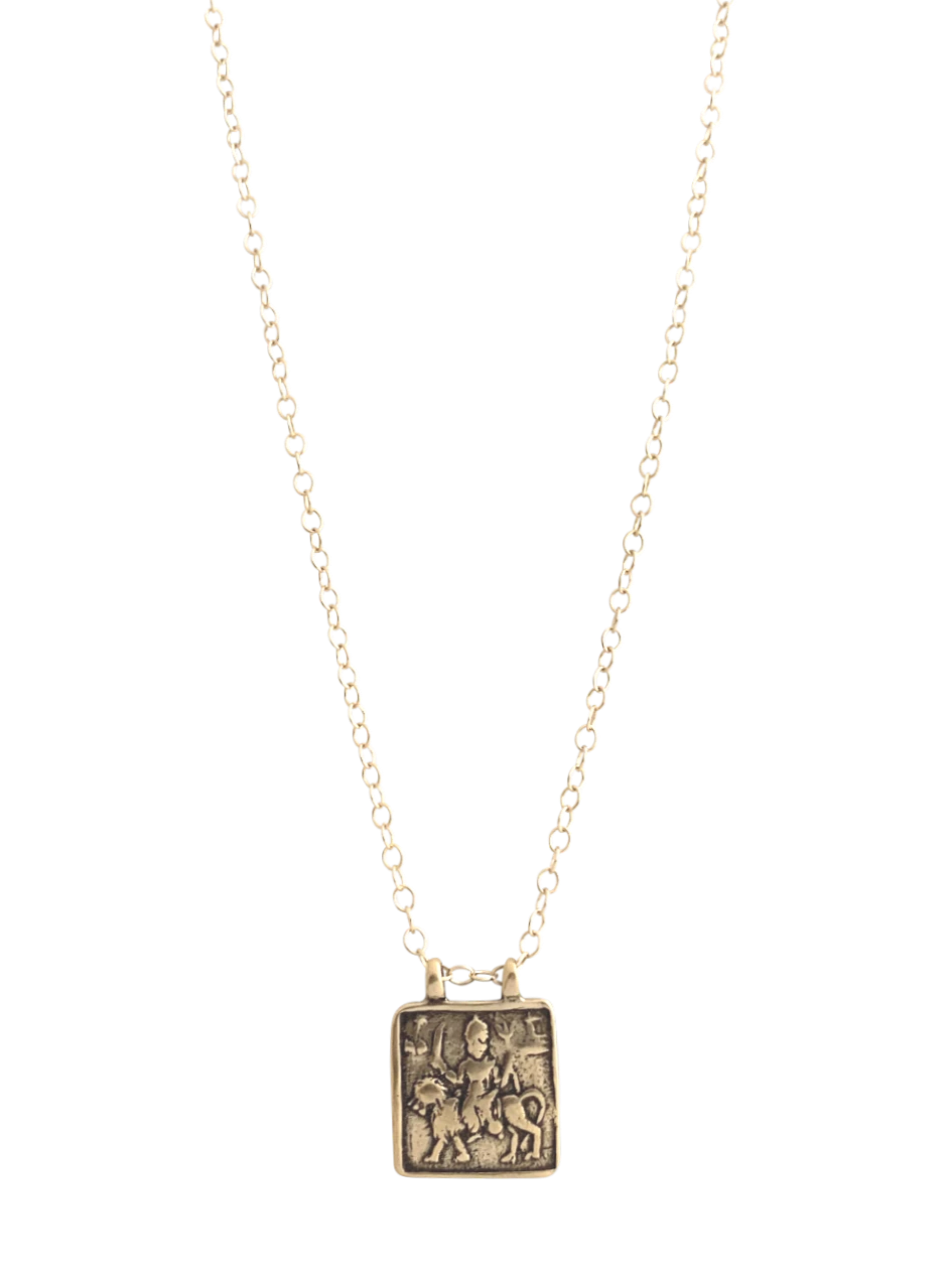 Bronze Durga Goddess Necklace