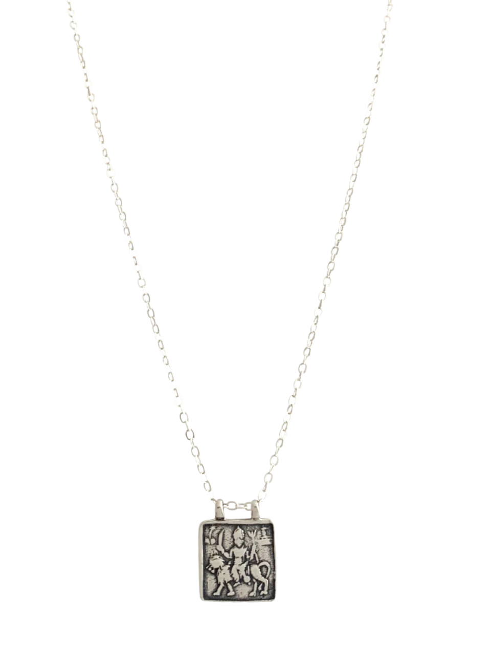 Sterling Durga Goddess Necklace