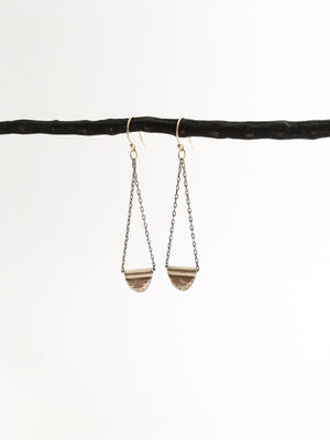 Tiny Flag Trapeze Earrings