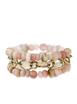 Hand Knotted Pink Opal Wrap Bracelet & Necklace