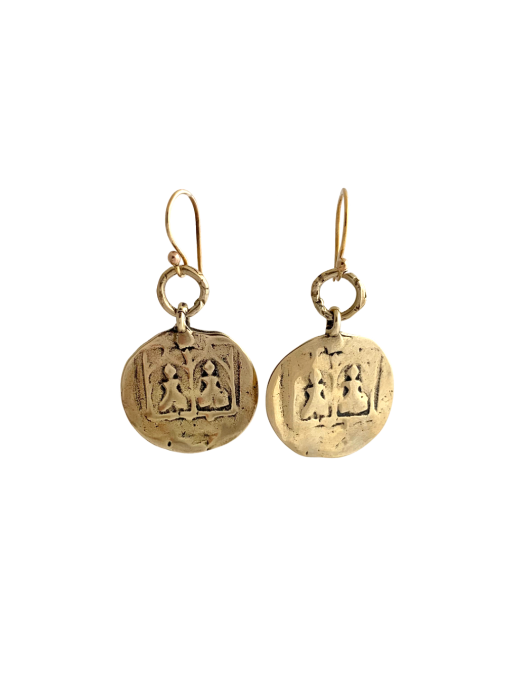 Golden Bronze Goddess Earrings