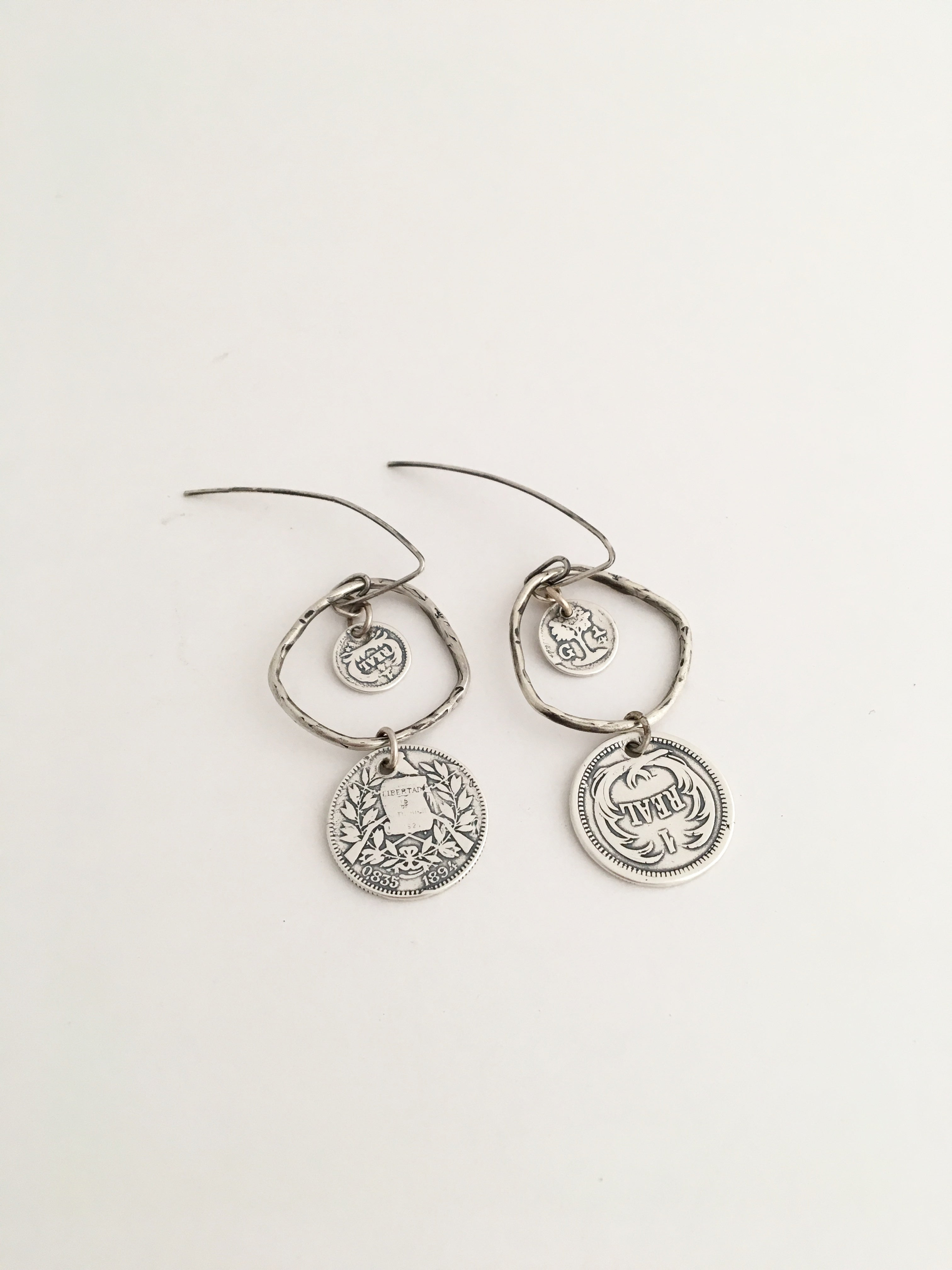 Spanish Galleon Coin Earrings