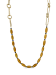 Golden Honey African Bead Necklace