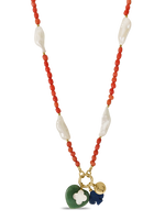 Coral & Pearl Dreamcatcher Necklace
