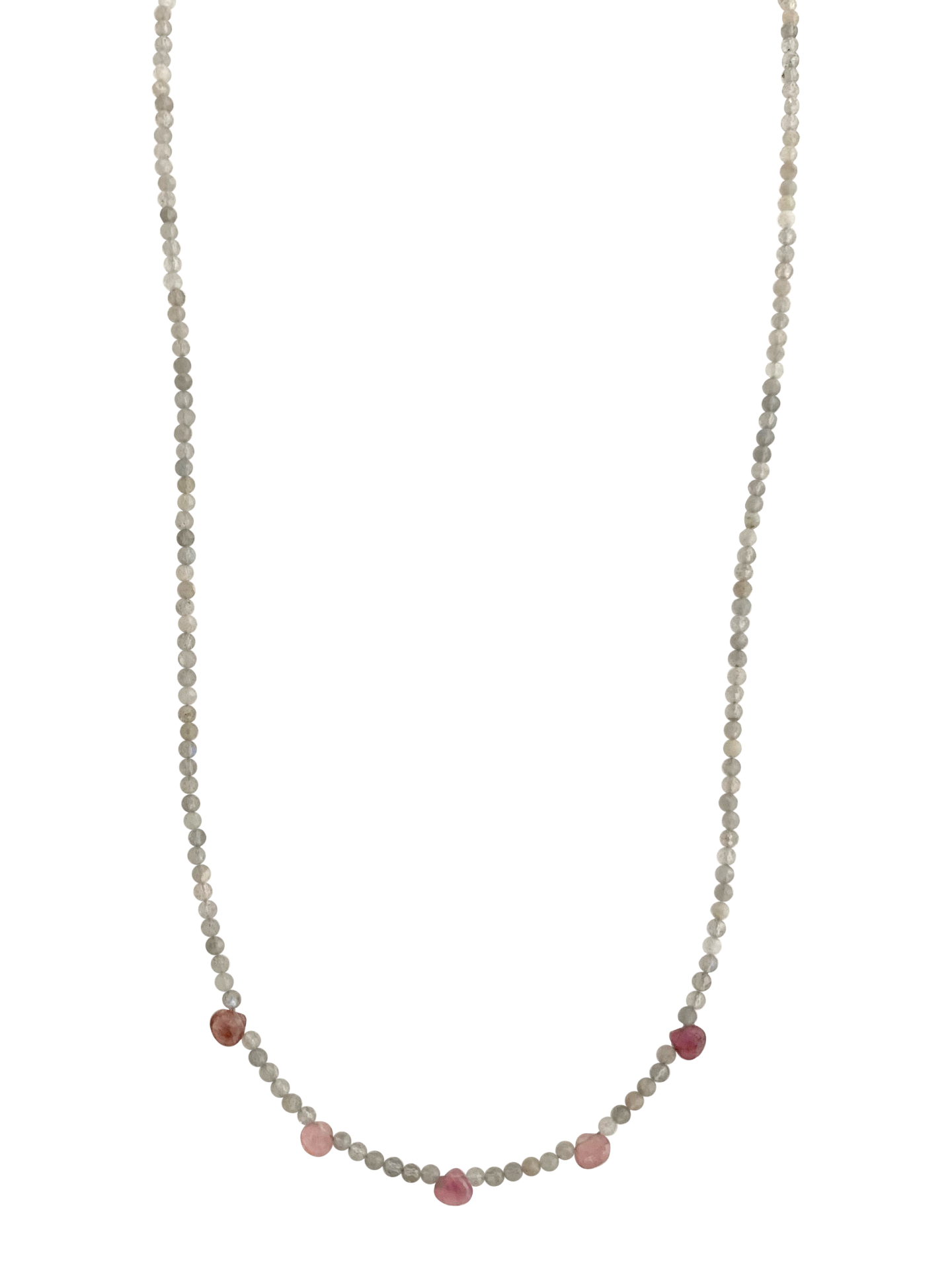 Labradorite & Pink Tourmaline Necklace