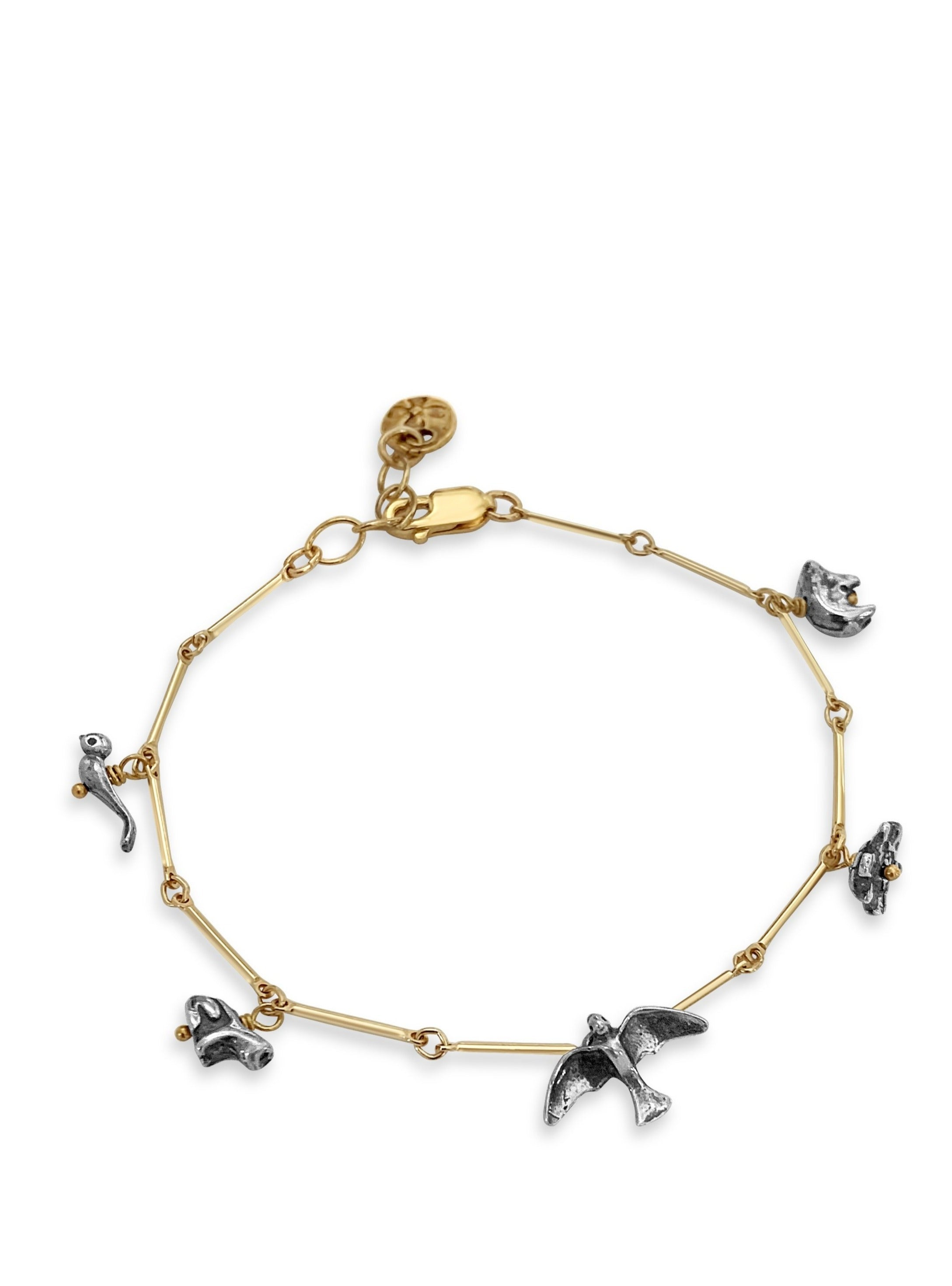 Sterling & Gold Animal Fetish Bracelet