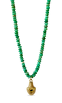 Chrysoprase African Bell Necklace