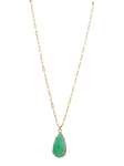Lucky Chrysoprase Pendant Necklace