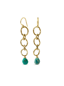 Free Spirit Amazonite Chain Earrings