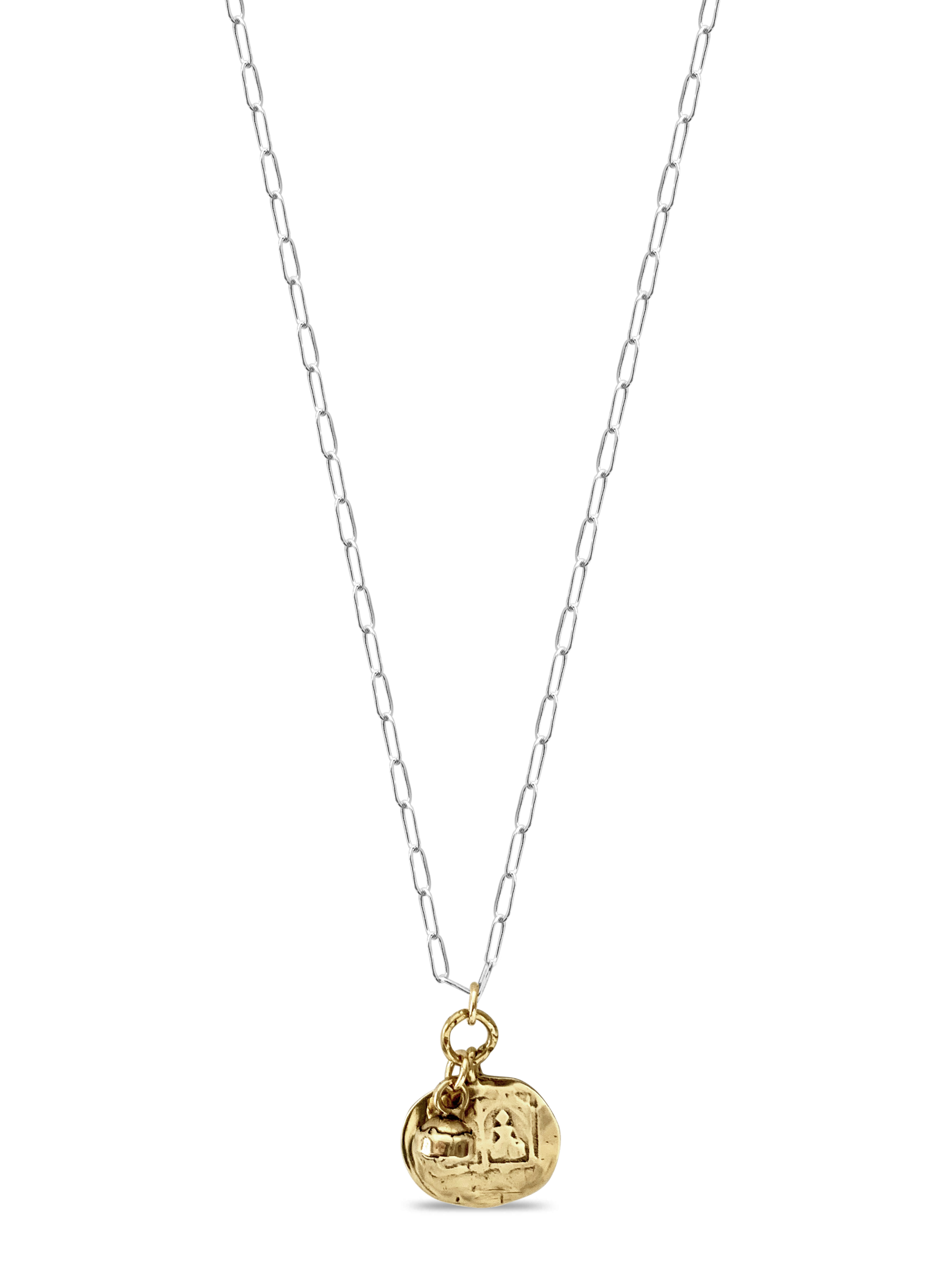Golden Double Goddess Necklace