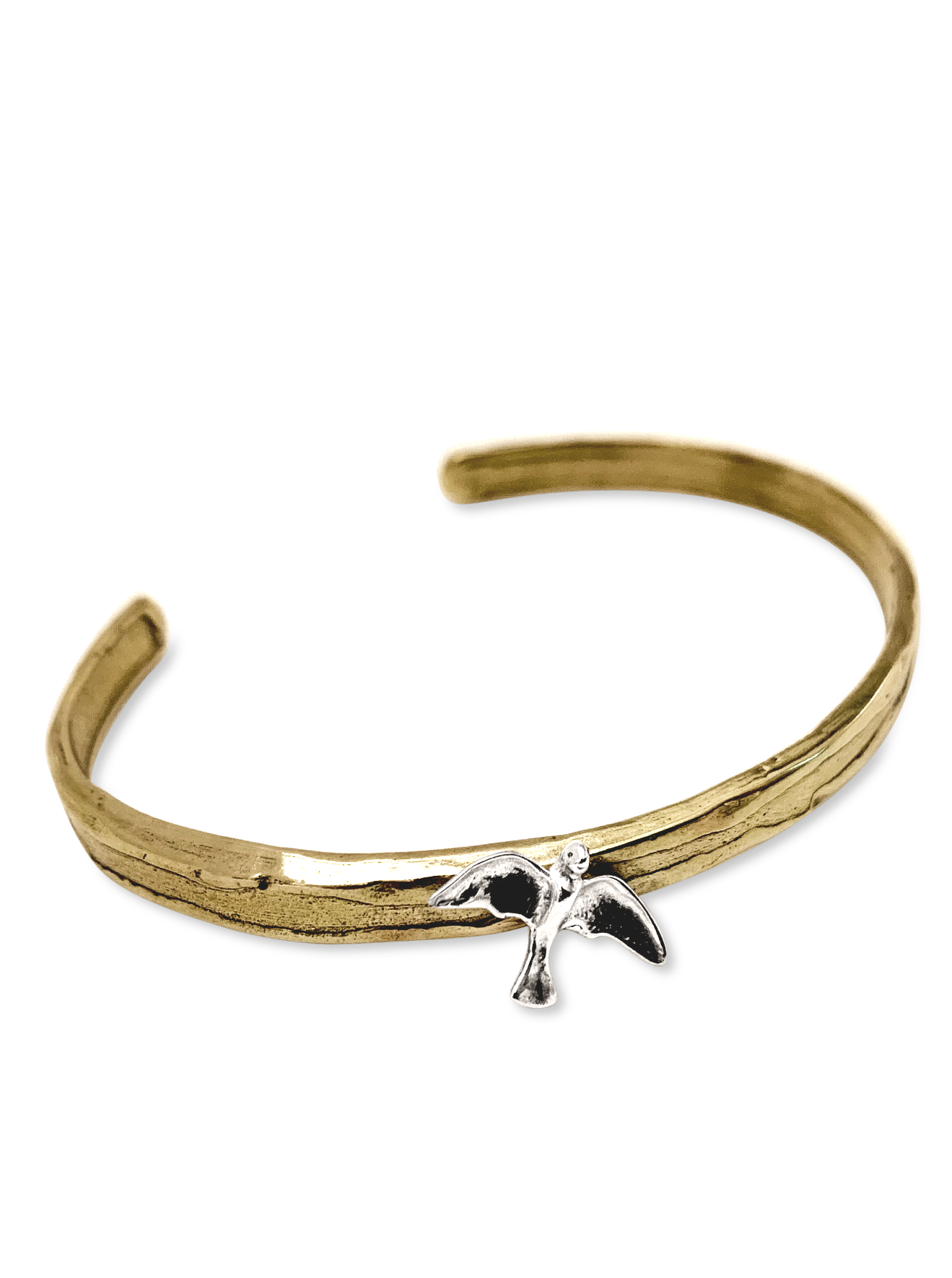 Golden Bronze & Sterling Seagull Bracelet