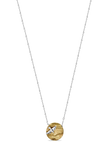 Golden Bronze & Sterling Seagull Necklace