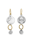 Sterling Coin Chandelier Earrings