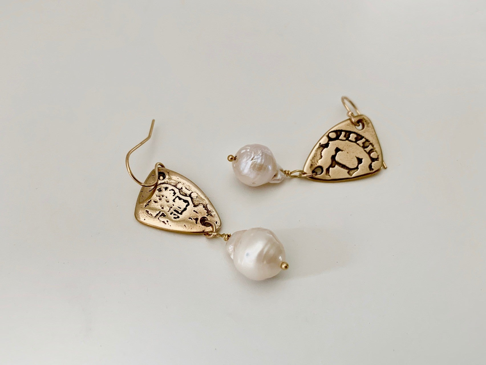 Pieces of Eight Pearl Earrings
