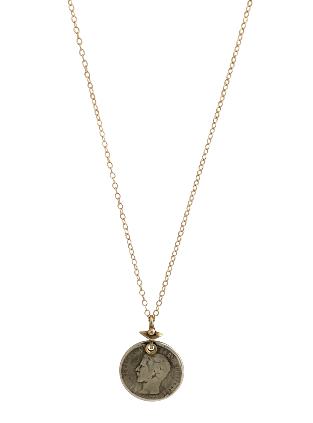 17th Century Sterling Coin Necklace