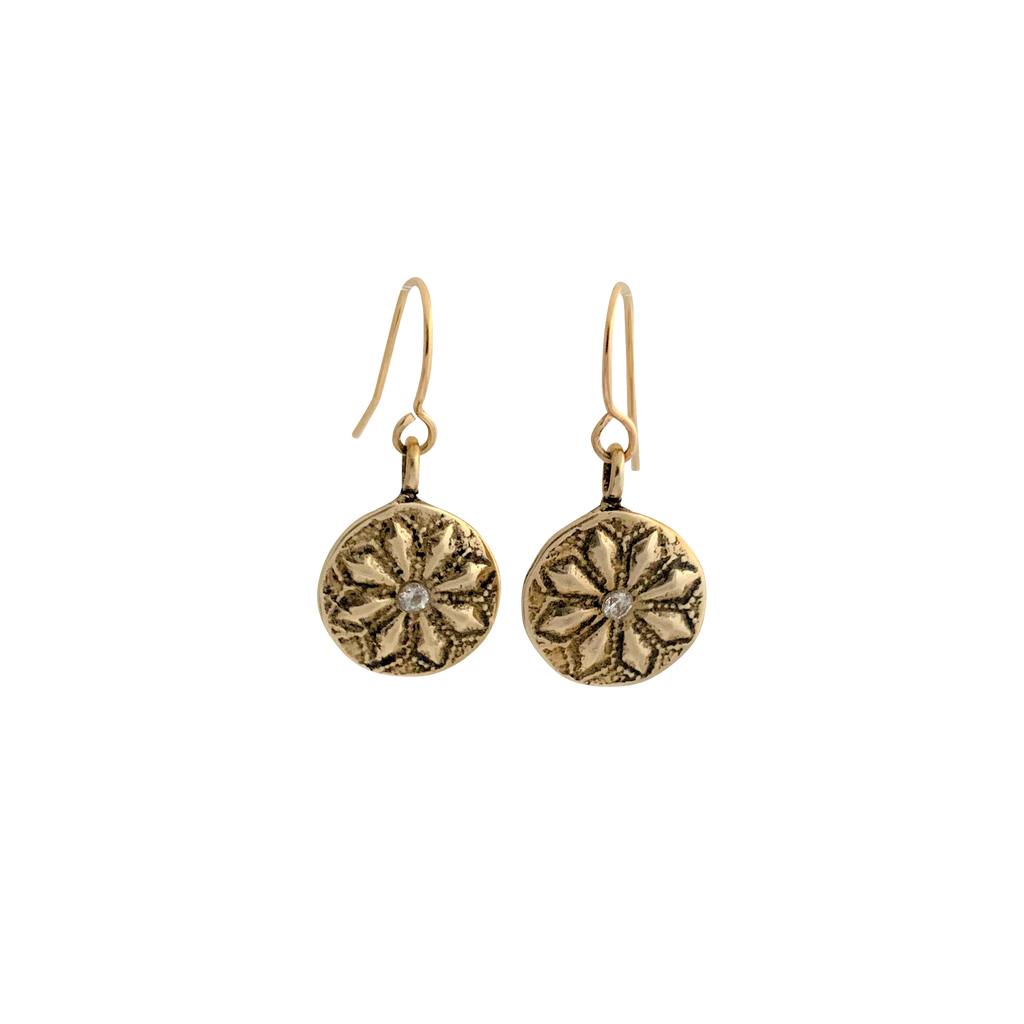 Lotus Flower Burst Earrings