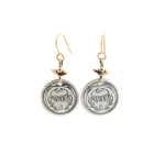 Sterling Réal Coin Earrings