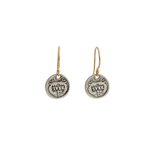 Tiny Sterling Réal Coin Earrings