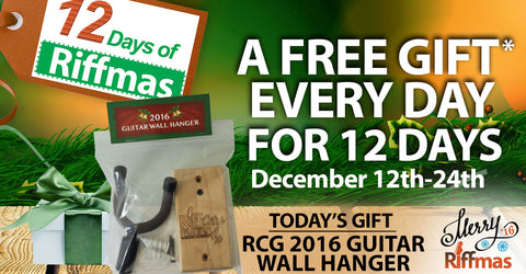 Riffmas Day 4 - Free Guitar Wall Hanger